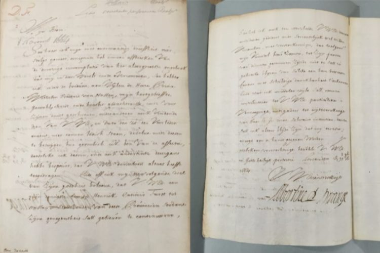 Brief van Albertine Agnes van Oranje aan Johan de Witt d.d. 29 oktober/8 november 1664, Nationaal Archief, Den Haag (Voorlopige archiefgegevens: NL-HaNA Raadpensionaris De Witt, 3.01.17; 9540)