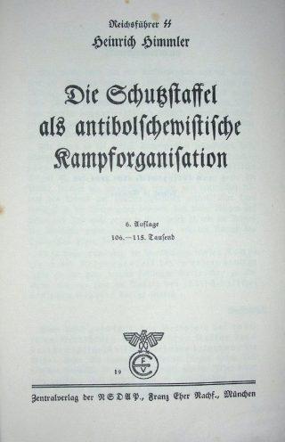 De Schutzstaffel als antibolsjewitische strijdmacht (Perkamentus)