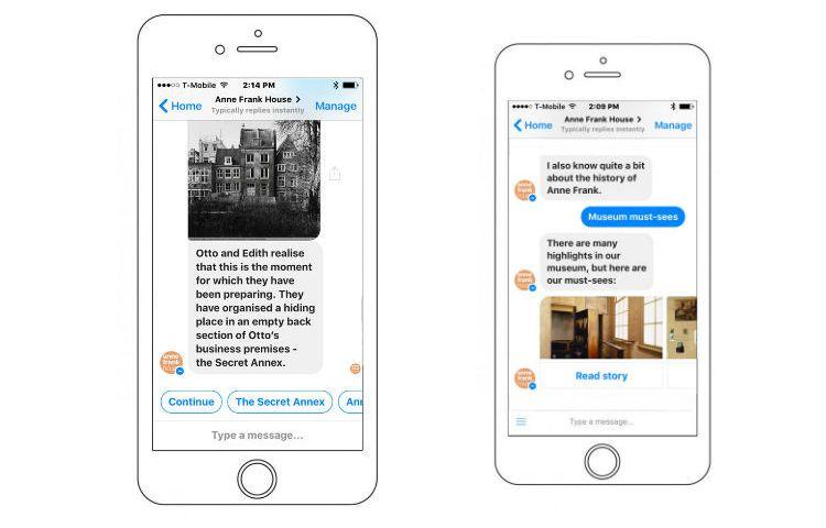 Anne Frank Stichting lanceert chatbot voor Facebook