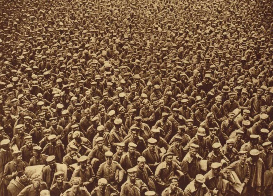 Duitse krijgsgevangenen na de Slag bij Amiens (1918)