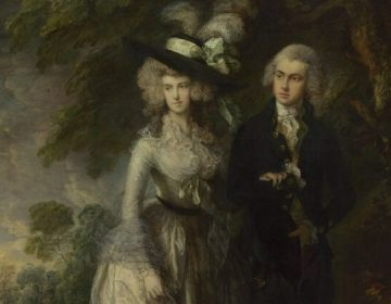 Mr and Mrs William Hallett - Thomas Gainsborough (detail)