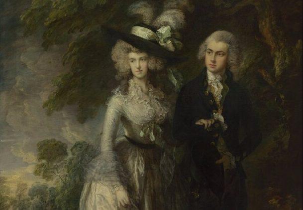 Mr and Mrs William Hallett - Thomas Gainsborough (detail)