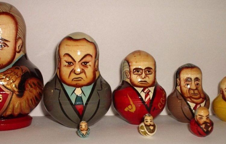 Russische leiders in matroesjkaformaat