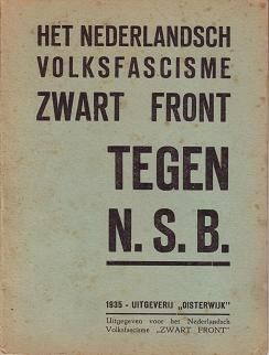 Zwart Front tegen NSB. Brochure uit 1935