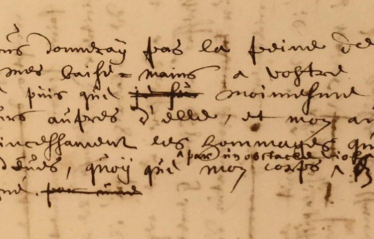 Fragment van minuut van Johan de Witt aan Amélie van Brederode, 16 januari 1654, NL-HaNA Raadpensionaris De Witt 3.01.17, inv. nr. 2645