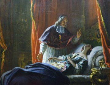 Fragment van 'La mort de Madame door Auguste Vinchon (1842). Dit schilderij hangt in het Kasteel van Saint-Cloud, waar 'Madame' overleed. Bron: lespetitesherbes.blogspot.nl