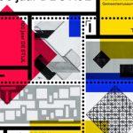 Postzegelvel ter ere van '100 jaar De Stijl'