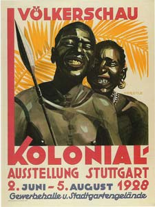 t // Affiche voor een koloniale tentoonstelling in Stuttgart. Bron: Wikimedia Commons.