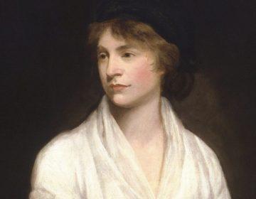 Mary Wollstonecraft op een schilderij vanJohn Opie, ca. 1797