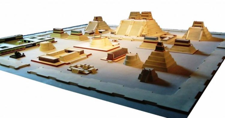 Model van het centrum van Tenochtitlan - cc