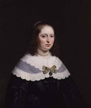 Portret van Sophia Trip door Bartolomeus van der  Helst(1613-70). Gallery, London, UK