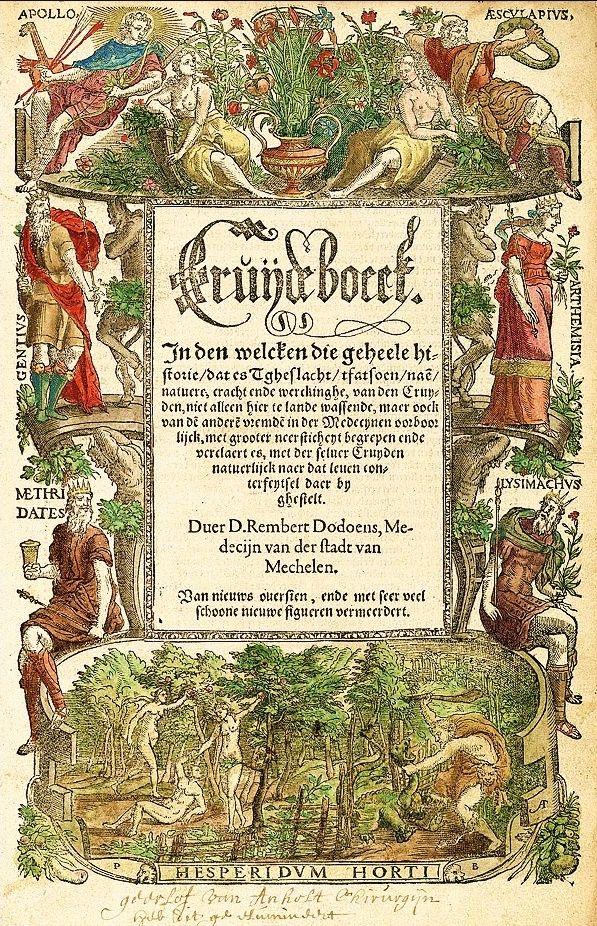 """Het """"Cruijde Boeck"""" van Rembert Dodoens"""