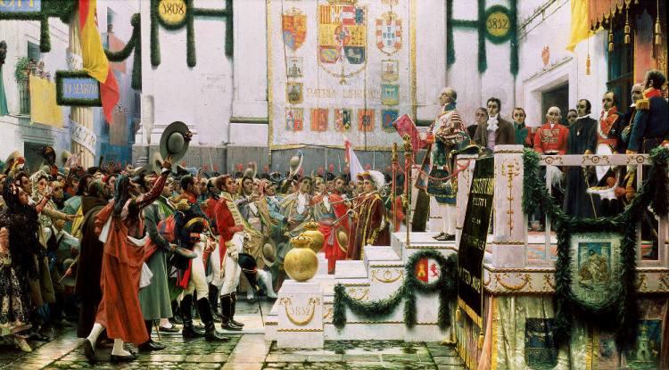 Afkondiging van de Grondwet van Cádiz in 1812