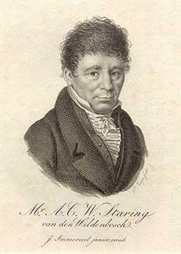 Anthony Christiaan Winand Staring (1767-1840) geportretteerd door Johannes Immerzeel