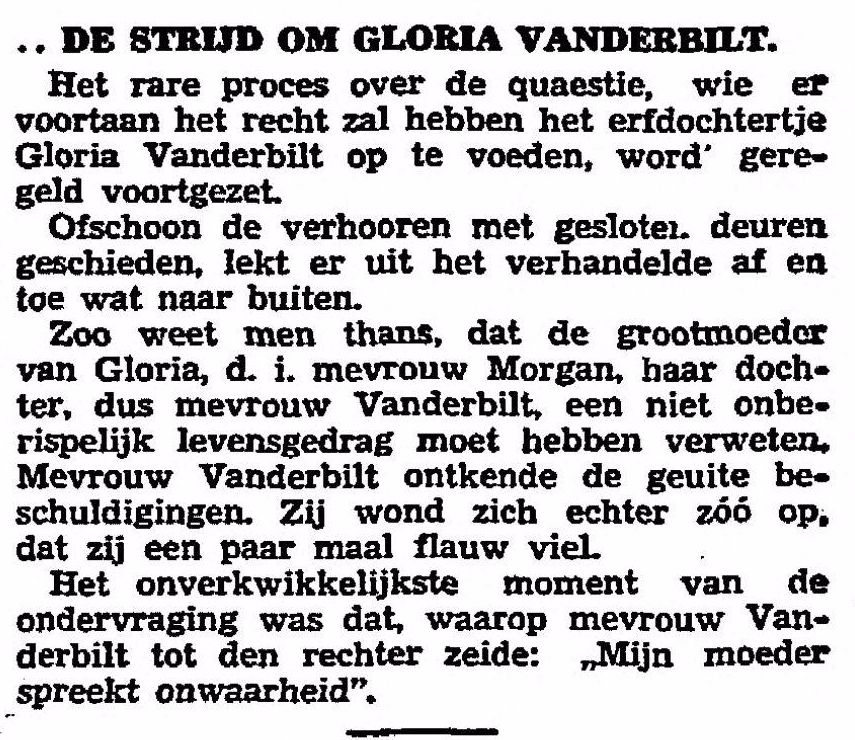 Bericht in de krant Het Vaderland van 3-11-1934 (Delpher)