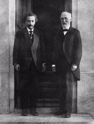 Einstein en Lorentz in Leiden (1921)