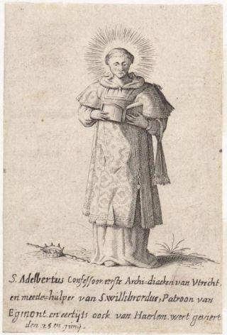 De heilige Adalbert van Egmond (Archief Alkmaar)