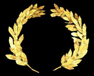 Gouden lauwerkrans uit de vierde of derde eeuw coor Christus (wiki)