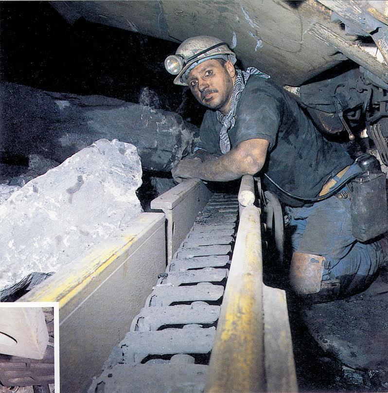 Mijnwerker in Beringen.