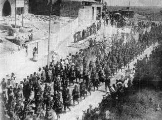 Regeringstroepen trekken Cartagena binnen in 1874
