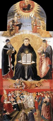 Triomf van Sint Thomas van Aquino, Benozzo Gozzoli, 1468/84