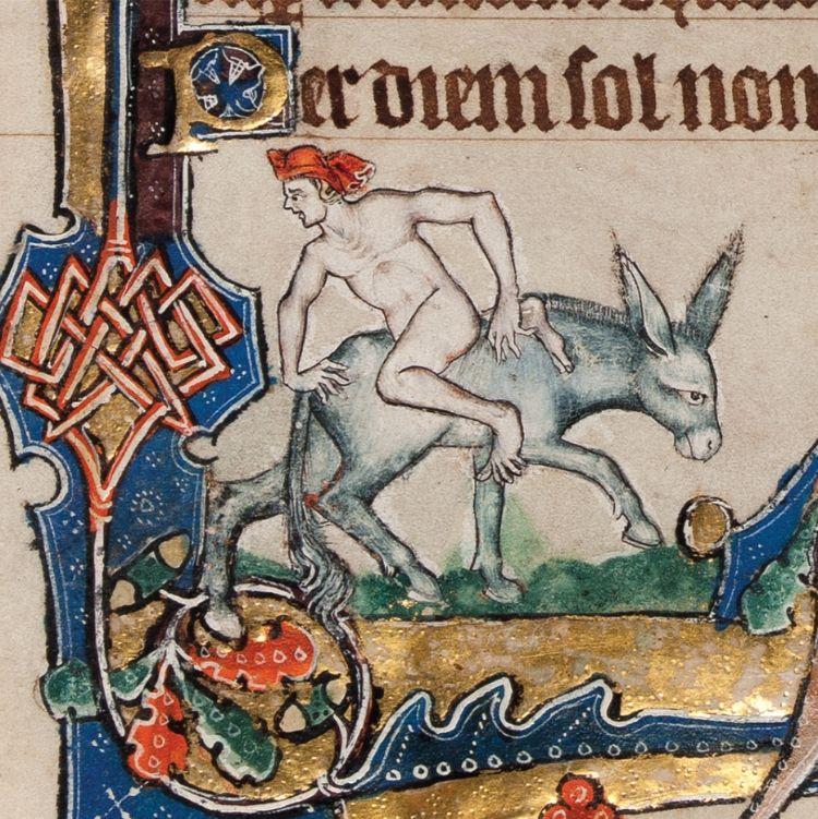 Decoratie in het Macclesfield Psalter, ca. 1330 (fitzwilliammuseumshop.co.uk)
