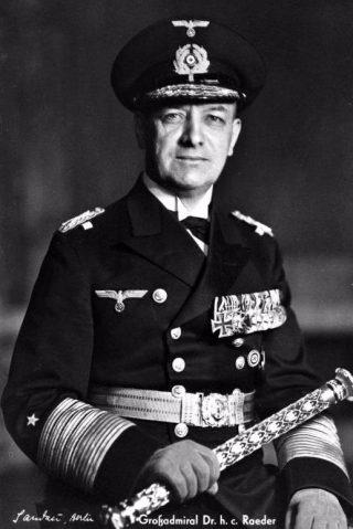 De Duitse admiraal Erich Raeder (cc - Bundesarchiv)