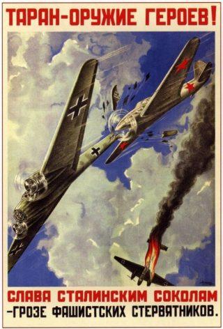 Een propagandaposter over taran.