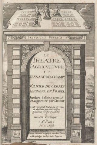 Le theatre d'agriculture, Saugrain, 1608