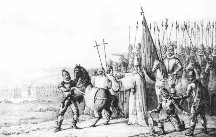 Otto II van Lippe spreekt de banvloek uit over Rudolf van Coevorden.
