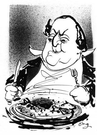 Rossini en zijn tournedos - © Henk Boudewijns – Illustratie Guus Ong