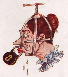 Karikatuur van een suffragette