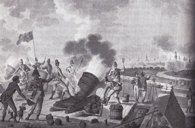 Het Britse bombardement van Vlissingen in 1809. (Tekening mogelijk van Johannes Jelgerhuis)