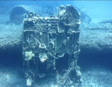 Bommenwerper uit WOII gevonden bij Ikaria (Still YouTube)
