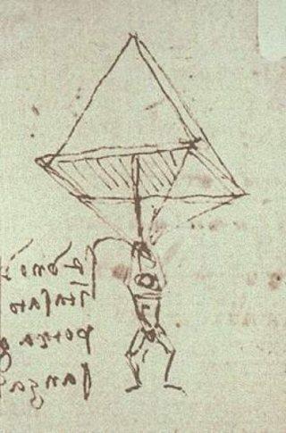 De parachute van Da Vinci