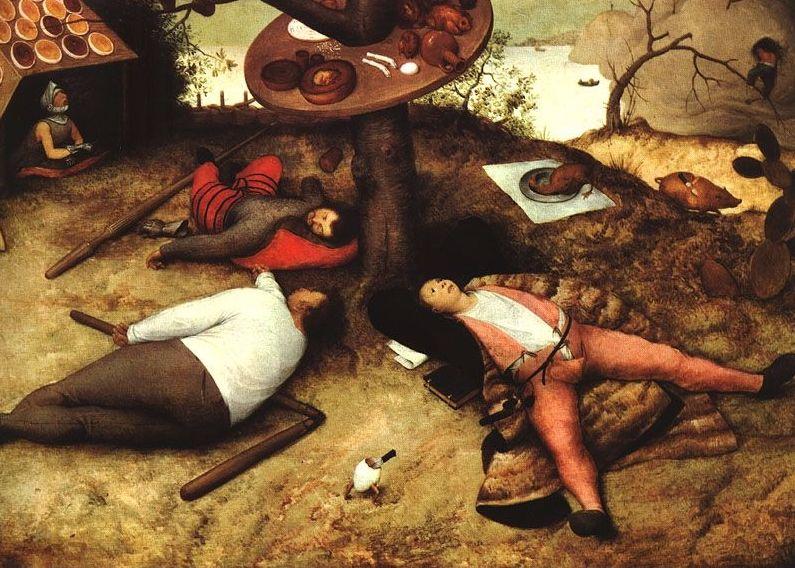 Luilekkerland - Pieter Bruegel de Oude, 1567)