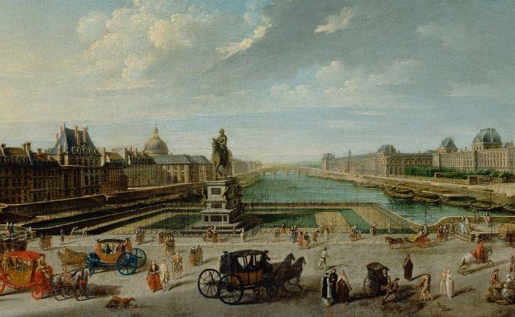Parijs in 1763, door Nicolas-Jean-Baptiste Raguenet