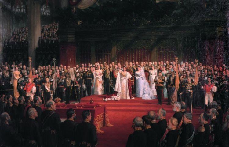 De inhuldiging van koningin Wilhelmina in 1898, Nicolaas van der Waay (Paleis Het Loo)