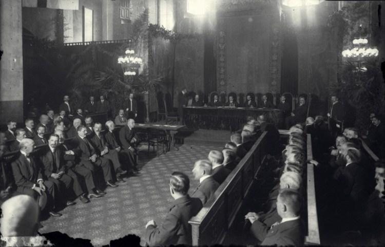 De mancomunidad van Catalonië in 1914