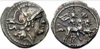 Een zilveren sestertie (na 211 v.Chr.)