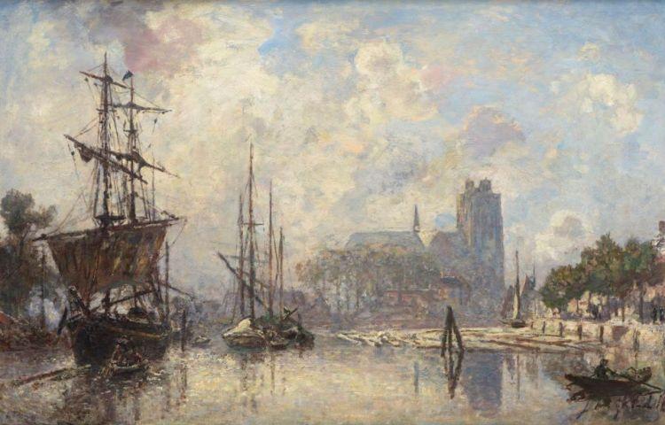 Stadsgezicht van Dordrecht - Jongkind, 1869 (Dordrechts Museum)