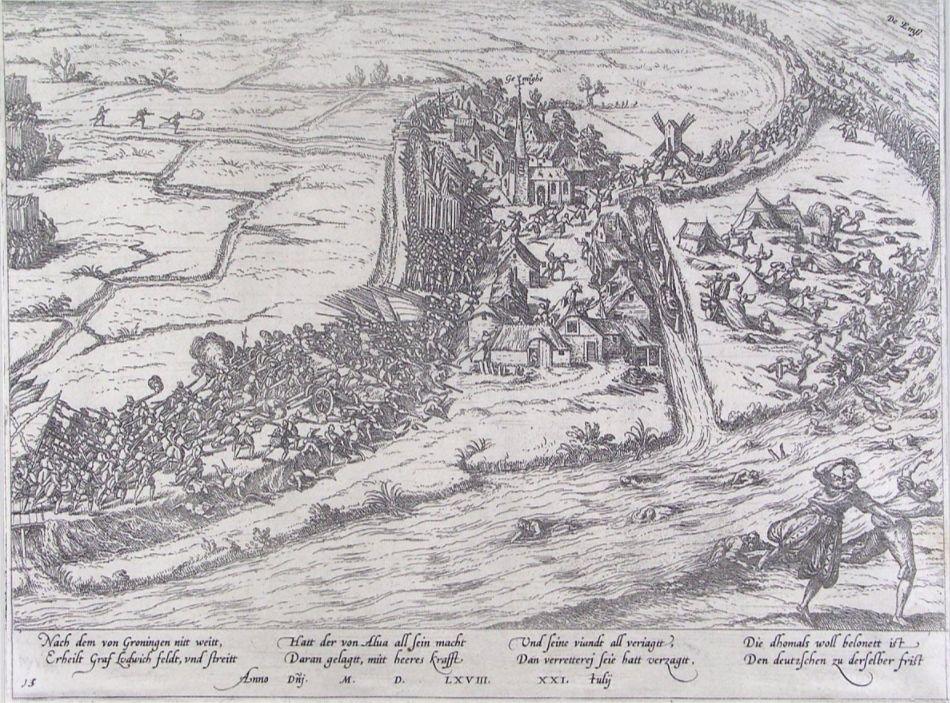 Slag bij Jenningen volgens Frans Hogenberg.