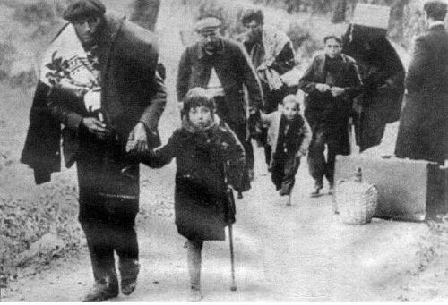 Vluchtelingen uit Barcelona januari 1939