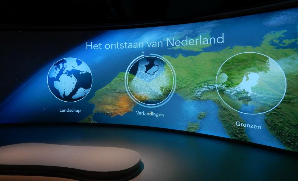 Zaalvullende projectie Nederland in Vogelvlucht