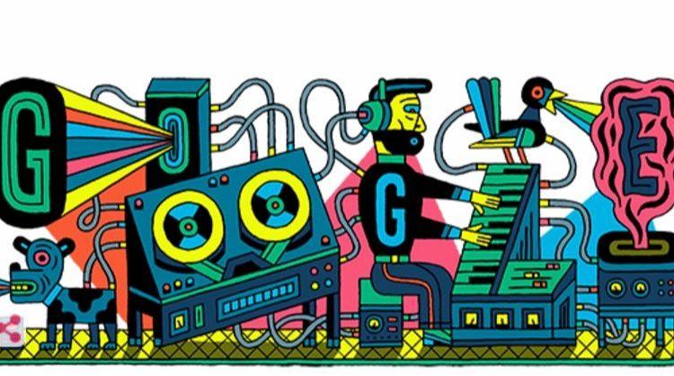 Geschiedenis van de elektronische muziek - Google Doodle