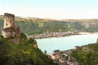Ruïne van Burcht Katz aan de Rijn (ca. 1900)