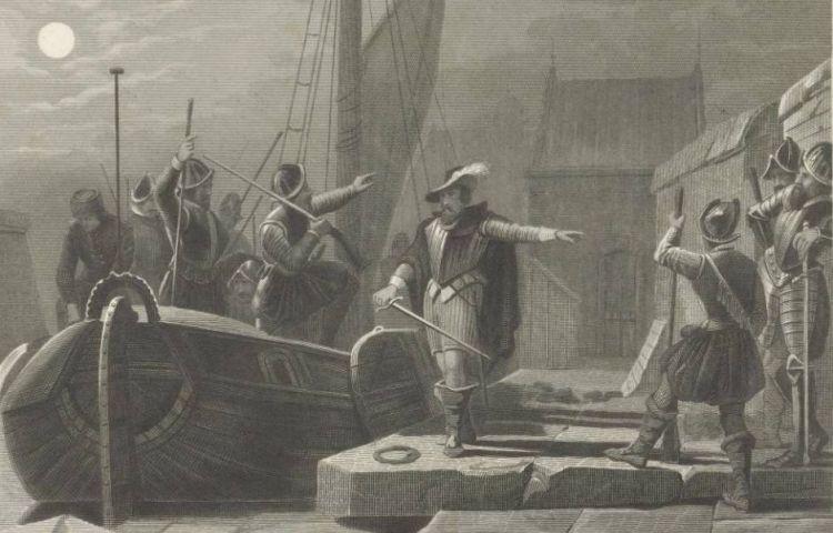Turfschip van Breda, 1590, Jan Frederik Christiaan Reckleben, naar Valentijn Bing, 1855 (Rijksmuseum)