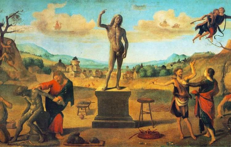 De mythe van Prometheus door Piero di Cosimo, 1515