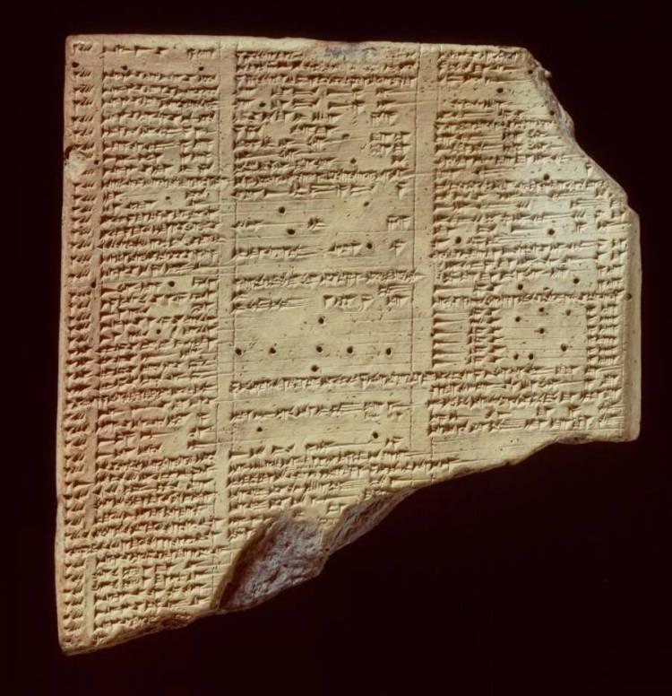 Kleitablet met spijkerschriftinscriptie uit bibliotheek van koning Assoerbanipal (Collectie NINO - Foto: Rijksmuseum van Oudheden)