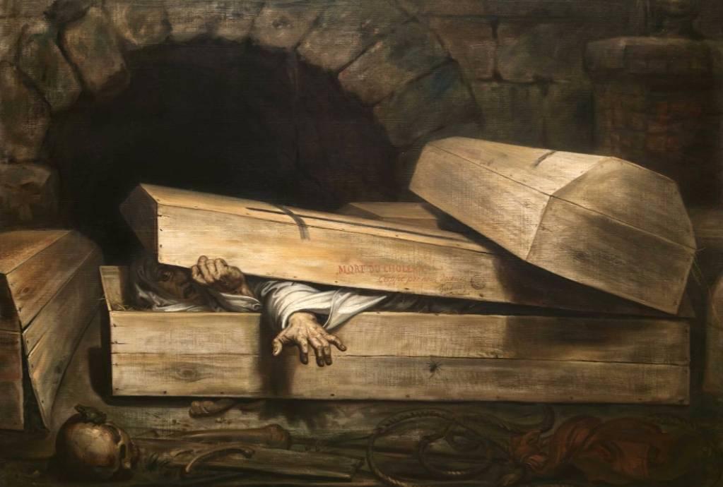 De overhaaste begrafenis - Antoine Wiertz, 1854 (Koninklijke Musea voor Schone Kunsten van België te Brussel, Wiertzmuseum)